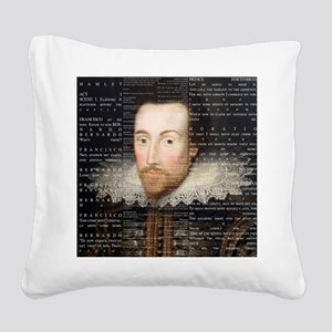 shakespeare hamlet shower cur Square Canvas Pillow