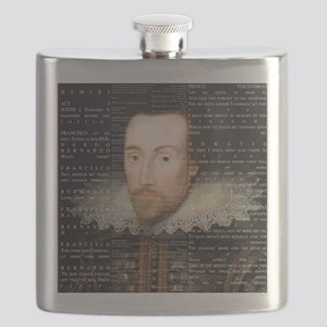 shakespeare hamlet shower curtain Flask