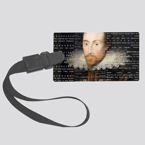 shakespeare banner Large Luggage Tag