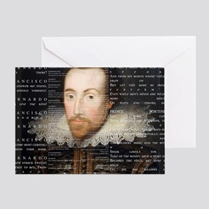 shakespeare banner Greeting Card