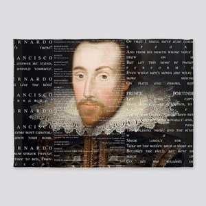 shakespeare banner 5'x7'Area Rug