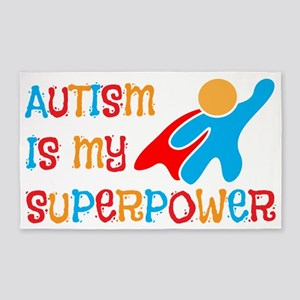 Autism is my Superpower 3'x5' Area Rug