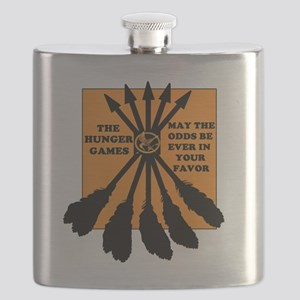 CAFEPRESS READY HUNGER GAMES TWO Flask