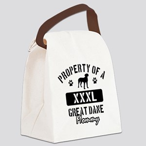 great dane mom property Canvas Lunch Bag