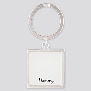 shih tzu mom property white Square Keychain