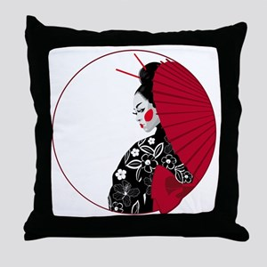 geishatshirt Throw Pillow