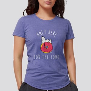 Only Here For The Food Womens Tri-blend T-Shirt