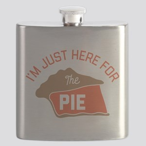 I'm Just Here For The Pie Flask