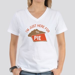 I'm Just Here For The Pie Women's V-Neck T-Shirt