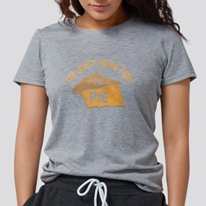 I'm Just Here For The Pie Womens Tri-blend T-Shirt