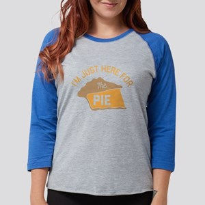I'm Just Here For The Pie Womens Baseball Tee