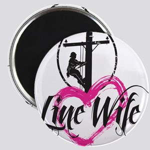 high voltage line wife front white shirt Magnet