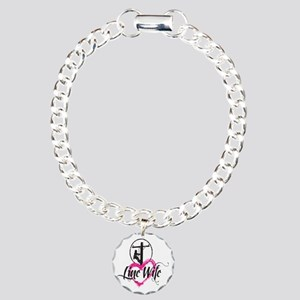 high voltage line wife f Charm Bracelet, One Charm