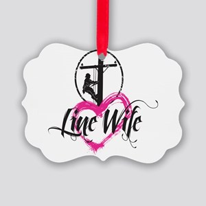 high voltage line wife front whit Picture Ornament