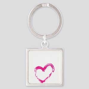 high voltage line wife front black Square Keychain