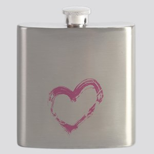 high voltage line wife front black shirt Flask