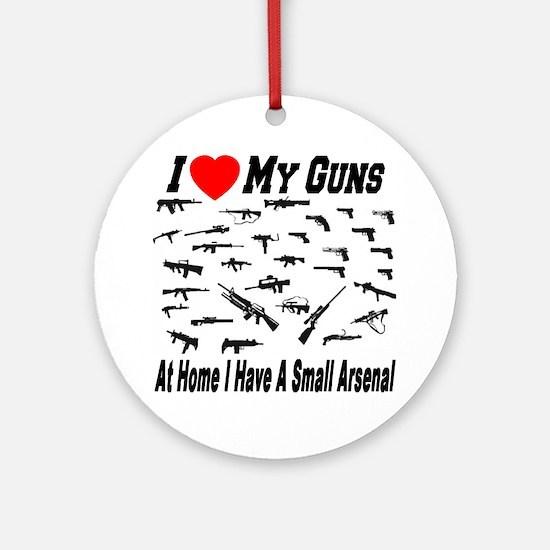 gun_collector_ilovemyguns Round Ornament