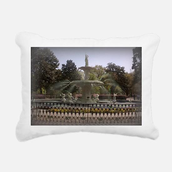 Forsyth Park Fountain Rectangular Canvas Pillow