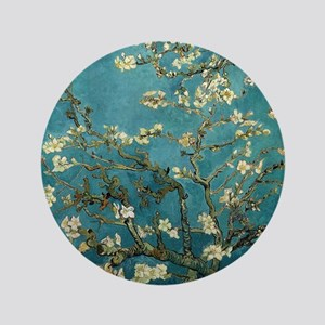 "Almond Branches in Bloom 2sc 3.5"" Button"
