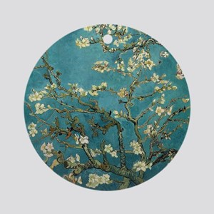 Almond Branches in Bloom 2sc Round Ornament