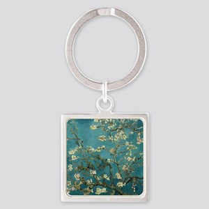 Almond Branches in Bloom 2sc Square Keychain