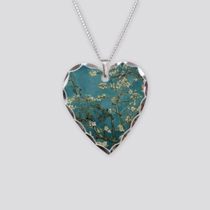 Almond Branches in Bloom 2sc Necklace Heart Charm