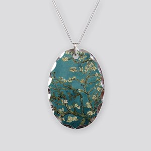 Almond Branches in Bloom 2sc Necklace Oval Charm