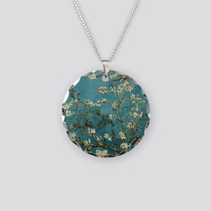 Almond Branches in Bloom 2sc Necklace Circle Charm