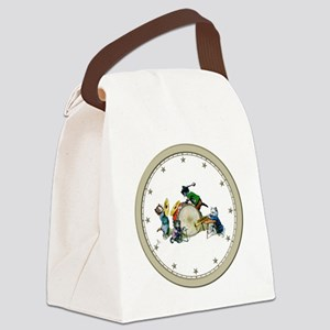 CLOCK Jazz Cats Silver Star Canvas Lunch Bag