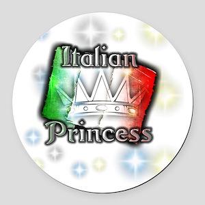 italianprincess Round Car Magnet
