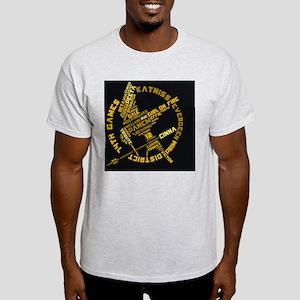 wordart-rectangle Light T-Shirt