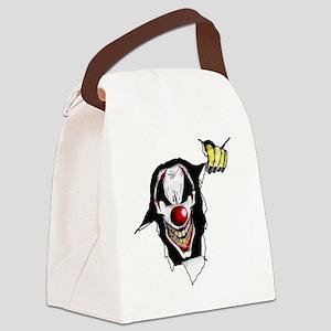 10x10b_evil_clown Canvas Lunch Bag