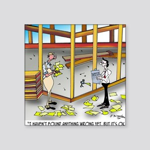 "6100_inspection_cartoon Square Sticker 3"" x 3"""