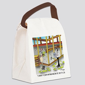 6100_inspection_cartoon Canvas Lunch Bag
