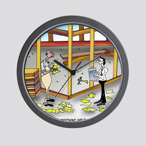 6100_inspection_cartoon Wall Clock