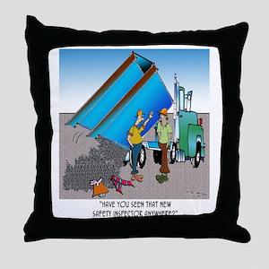 8153_safety_cartoon Throw Pillow