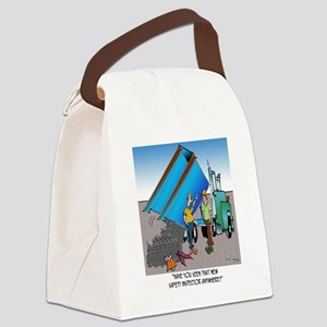 8153_safety_cartoon Canvas Lunch Bag