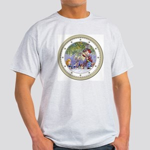 CLOCK Mad Hatters Tea Party Silver S Light T-Shirt
