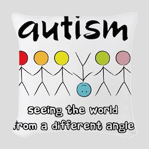 autism angle Woven Throw Pillow