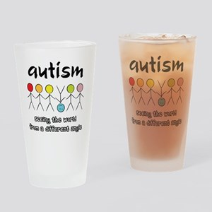 autism angle Drinking Glass