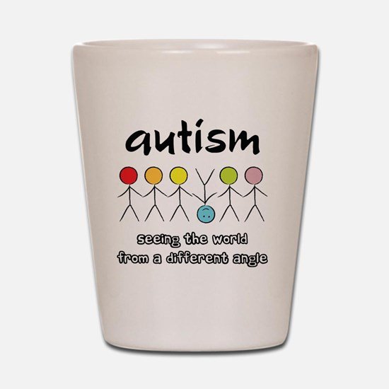 autism angle Shot Glass