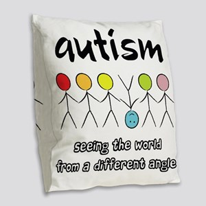 autism angle Burlap Throw Pillow
