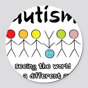 autism angle Round Car Magnet