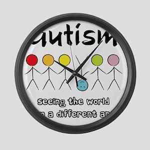 autism angle Large Wall Clock