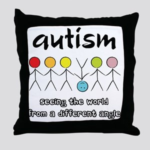 autism angle Throw Pillow