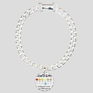 autism angle Charm Bracelet, One Charm