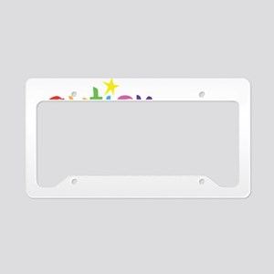 autism superpower wh License Plate Holder