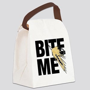 bite me fishing Canvas Lunch Bag