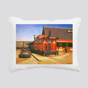 redCaboose Rectangular Canvas Pillow