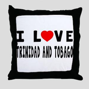 I Love Trinidad And Tobago Throw Pillow
